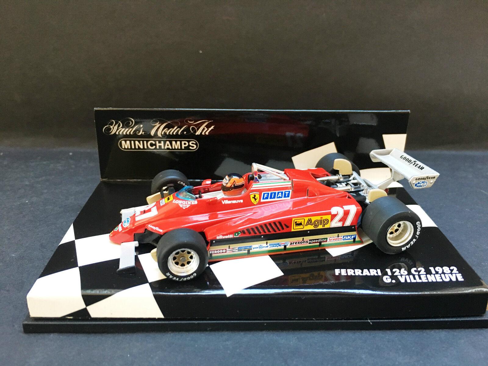Minichamps  - Gilles Villeneuve - Ferrari - 126C2 - 1 43 - 1982  acheter une marque