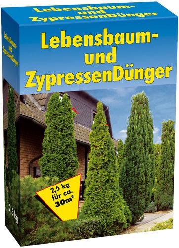 # 7,5 kg LEBENSBAUM /& ZYPRESSENDÜNGER,Koniferen,Dünger,Tannen,Nadelbaum 3x 2,5kg