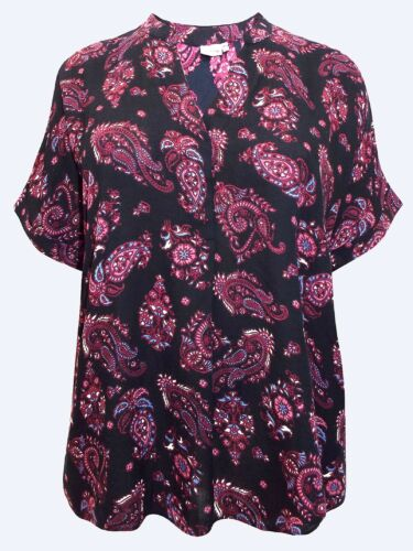 Cellbes NEW Paisley Print Short Sleeve Blouse UK SIZES 16//18 to 36//38