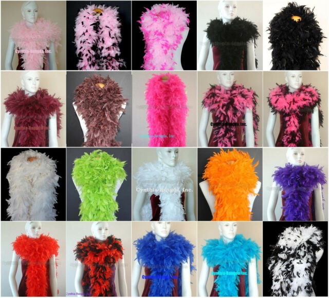 Costumes//Halloween//Bridal 20 MARABOU 22 Gram FEATHER BOAS 2 Yards MANY COLORS