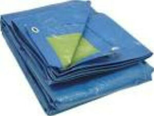 7.0M x 9.0M ECONOMY BLUE WATERPROOF TARPAULIN SHEET TARP COVER WITH EYELETS