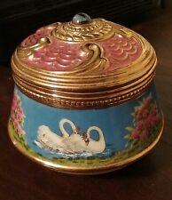1- Ceramic Swan Lake Jewelry/Trinket Music Box