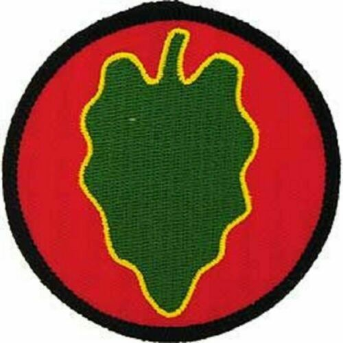 """DIV 024th Inf - Patriotic Patches Embroidered Iron On Patch US Army 3/""""x3/"""""""
