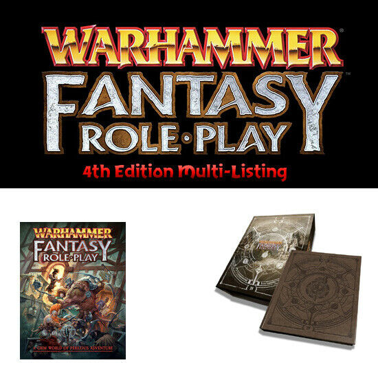 Warhammer Fantasy Roleplay - 4th Ed. Book Multi-Listing - NEW - WFRP