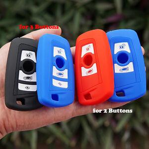 SILICONE KEY COVER REMOTE CASE FOB 2 Button FOR BMW 1 3 5 7 SERIES E46 X1 X3 X5