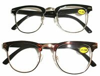 Browline Hornrim Style Vintage Reading Glasses Cheaters Spex