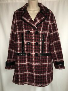 Kvinder Jacket Sort Express Multi Peacoat Color Medium Nwt Plaid 198 YrPP5wtq