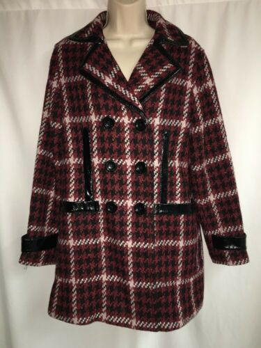 Sort Nwt Color Medium 198 Express Kvinder Jacket Multi Peacoat Plaid tRFZvF