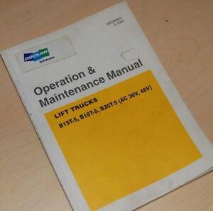 doosan b15t 5 b18t b20t forklift owner operator operation rh ebay com Operations Manual Template User Manual
