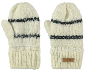 Barts-Glove-Ducky-Mitts-Cream-Striped-Fine-Knit-Ribbed-Cuffs