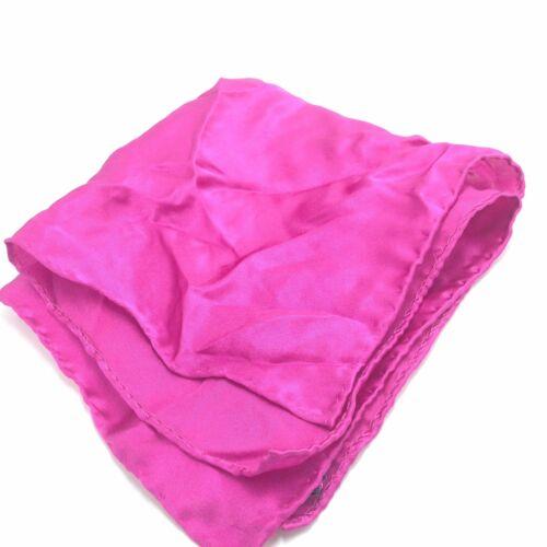 $95 BLOOMINGDALES Men SUIT POCKET SQUARE SOLID CASUAL PINK DRESS HANDKERCHIEF