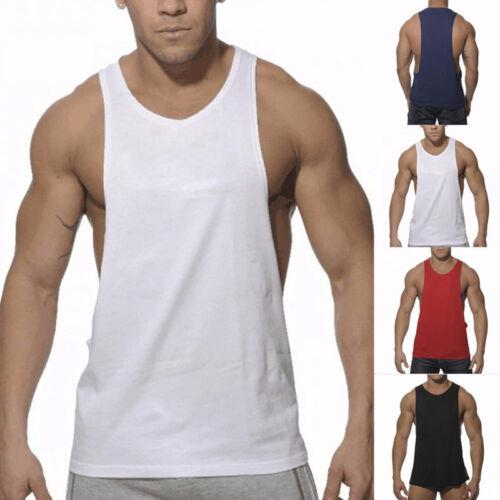 Homme Bodybuilding Débardeur Gym Fitness Singlet Sans Manches Muscle Débardeur Entraînement