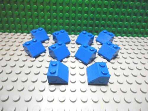 Lego 10 Blue 2x2 Slopes brick block NEW