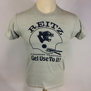 sports shoes d058e ccf91 Vintage 70s 80s Reitz Panthers High School IHSAA Football T ...