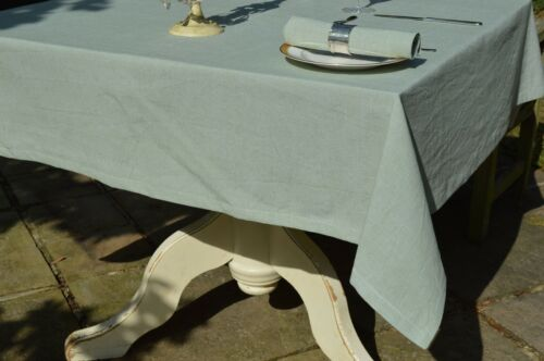 TABLECLOTH 100/% Cotton Oxford Chambray Meadow Green Square oblong oval round