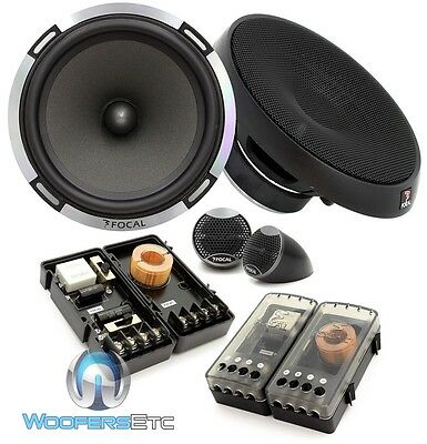 "OPEN BOX FOCAL PS-165 6.5"" 160W RMS 2-WAY COMPONENT MIDS TWEETERS SPEAKERS"