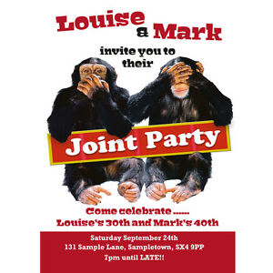 Personalised joint birthday party invitations cheeky chimps magnetic image is loading personalised joint birthday party invitations cheeky chimps magnetic filmwisefo
