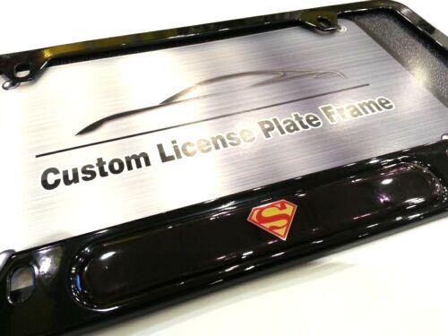 License Plate Frame for SUPERMAN Gloss Black Man of Steel Superboy Supergirl DC