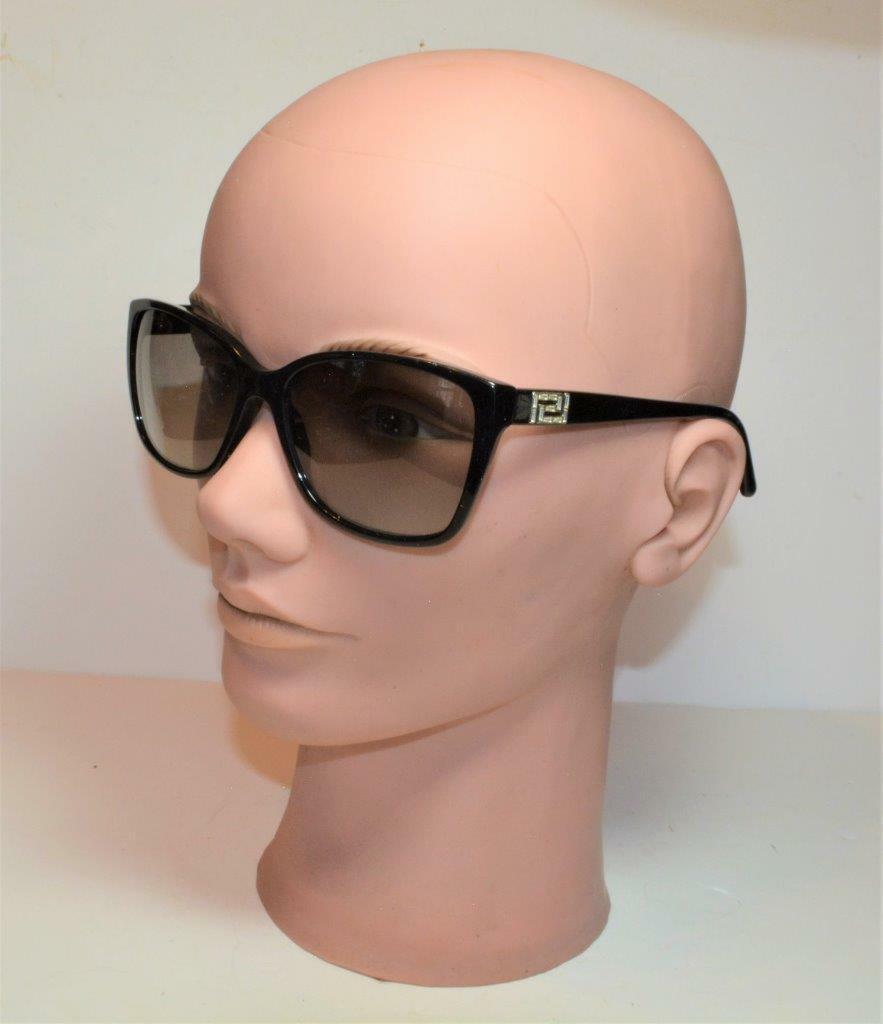 Authentic Versace Mod. 4268-B sunglasses Italy black gradient lens 57/16/135