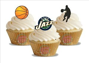 Image Is Loading 12 X Basketball Utah Jazz Trio Mix Birthday