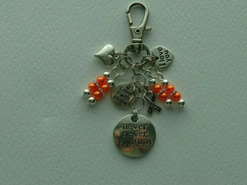 MS MULTIPLE SCLEROSIS AWARENESS KEYCHAIN PURSE CLIP BAG CHARM BACKPACK FOB