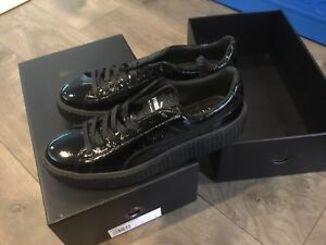 f4e230f0737 New Puma x Fenty By Rihanna Creeper Cracked Leather Puma Black Men s ...