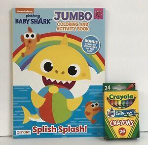 Nickelodeon Pinkfong Baby Shark Jumbo Coloring & Activity Book + 24 Crayons