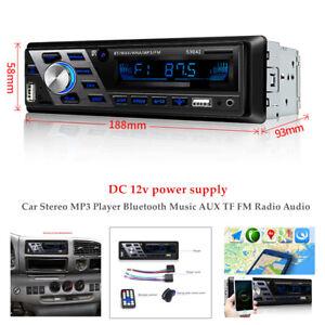 Car Stereo MP3 Player Bluetooth AUX USB TF FM Radio Audio In-dash Handsfree 12V
