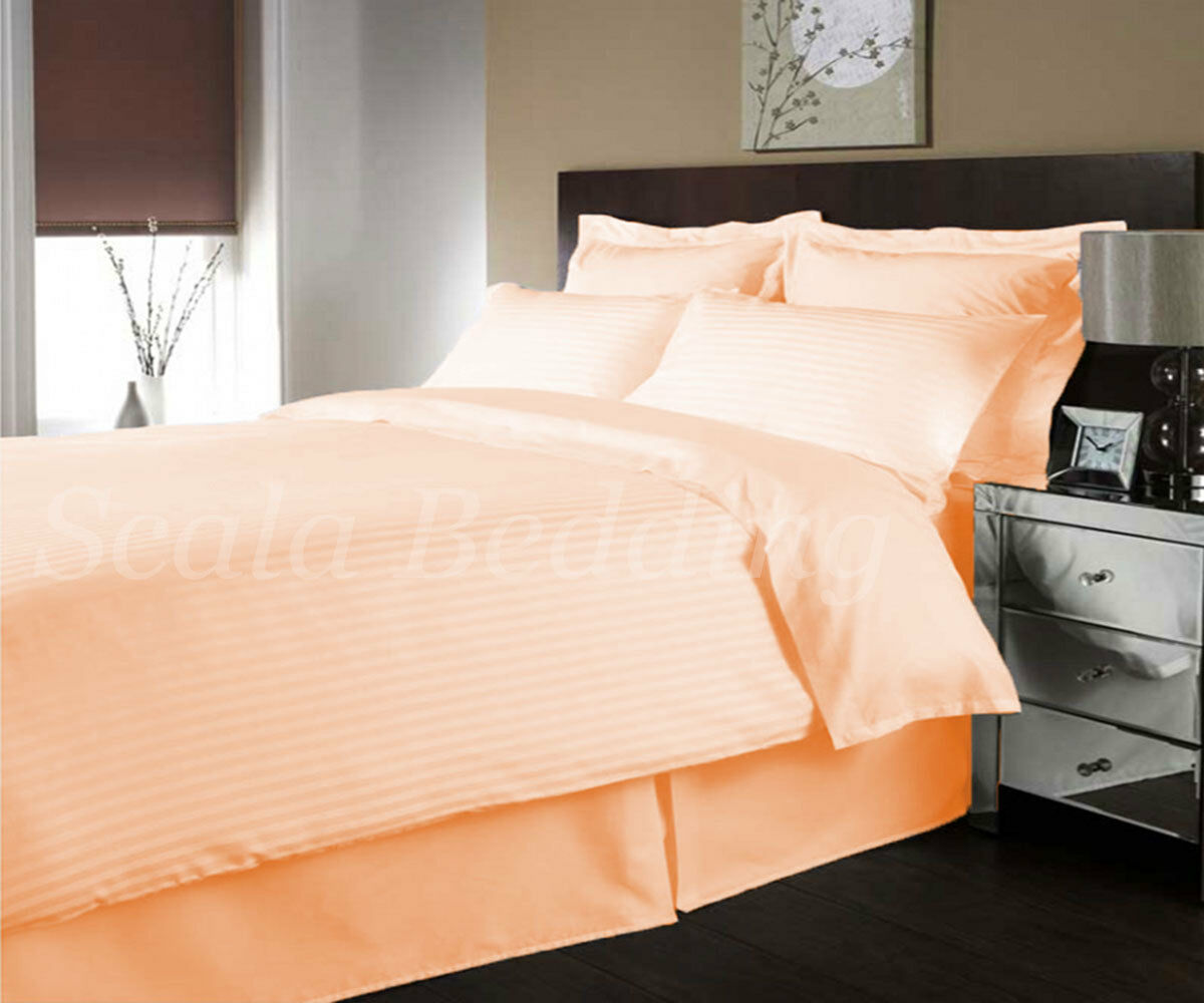 100% Egyptian Cotton 1000-TC 5 Piece Striped Duvet Cover All Sizes All colors