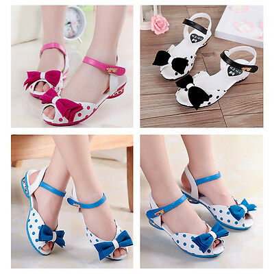 Summer Baby Girls' Shoes Kids Toddler Children Polka Dot Bowknot Sandals 3-6Y