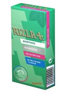 2400-Filtri-Rizla-ULTRASLIM-Menta-Menthol-Slim-5-7-mm-20-pacchetti-per-cartine