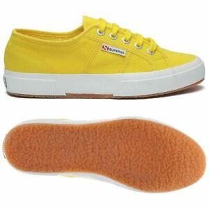 selezione migliore 1c176 f412a Dettagli su SUPERGA modello 2750 Classic gialle sneaker unisex uomo donna  adulto numero 41