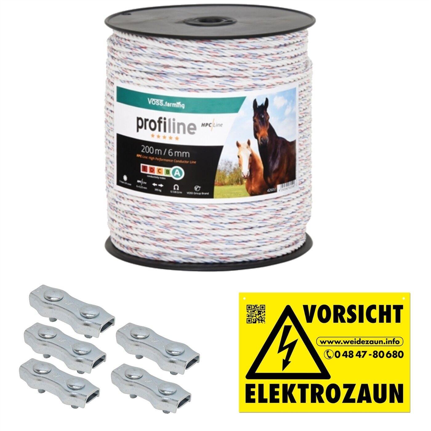 500m 10mm Weidezaun Band  Elektro Zaun Pferde Pony Rinder Ziegen Hunde Schweine
