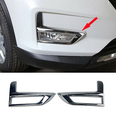 Rear Fog Lamp light Cover Trim fit Nissan X-Trail Rogue 2017-2019 Chrome Front