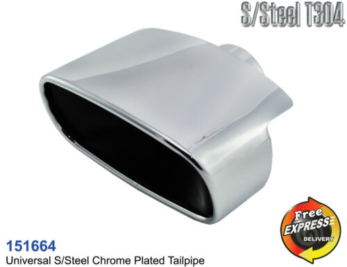 Exhaust tip tailpipe trim Chrome Plated oval for BMW Mercedes Benz Porsche SAAB