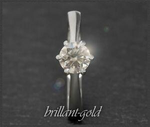 Diamant-Brillant-Damen-Ring-Solitaer-0-96-ct-Si2-14-Karat-Weissgold-Schmuck-NEU