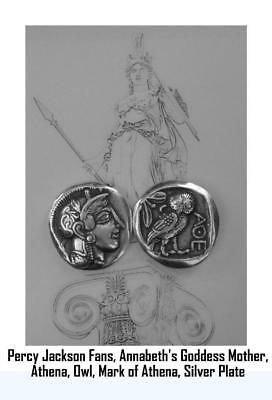 Drachm Small Version 47-S Percy Jackson Necklace ATHENA /& Owl Pend//Chain