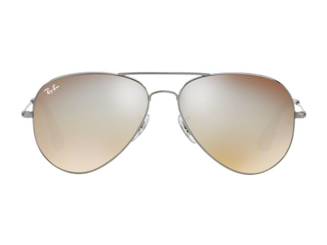 1067f96882 Ray-Ban RB 3558 004 b8 Gunmetal Silver Mirror 58mm Aviators Sunglasses Auth