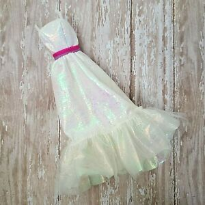 Vintage-Barbie-1983-Crystal-Barbie-4598-Dress-Only-Iridescent-Evening-Gown-VGC