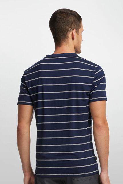ICEBREAKER ICEBREAKER ICEBREAKER -Tech Lite ShortSleeve Stripe- Herrenshirt V-Ausschnitt SONDERANGEBOT d8de3e