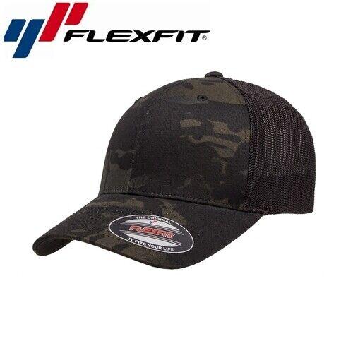 Flexfit Trucker Multicam Baseball Cap UNI//taille unique Camouflage Noir