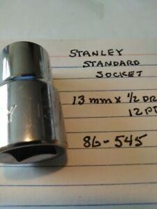 """Stanley 19 mm x 1//2/"""" Dr Standard   Socket  12 Pt   # 86-551"""
