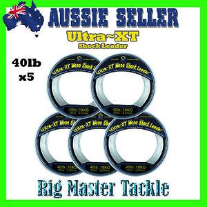 5x-Shock-Leader-100m-Spools-Ultra-XT-Fishing-Line-Monofilament-40lb-Rig-Master