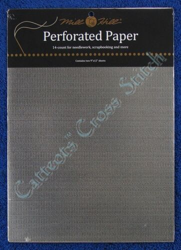 Perforated Paper for Cross Stitch Silver 14 Count Mill Hill