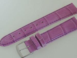 # L052 # Uhrenarmband Armband Leder Kroko Optik Bracelet Leather 18 Mm