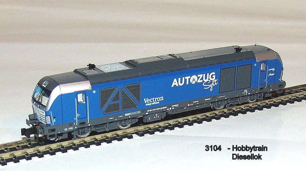 3104 - Hobbytrain Hobbytrain Hobbytrain - Diesellok BR 247 909 Vectron DE Autozug Sylt Ep.VI  Neu 0d8317