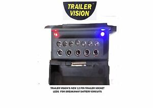 TRAILER-VISION-NEW-12-PIN-TRAILER-SOCKET-LEDS-FOR-BREAKAWAY-CIRCUITS