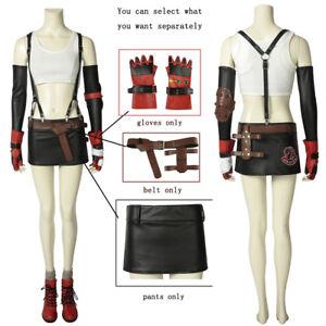 FF7 final fantasy Tifa·Lockhart women cosplay gloves belt hot skirt ... 712429f786