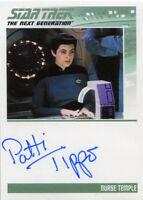 Star Trek Tng Portfolio Prints S1 Autograph Card Patti Tippo As Nurse Temple