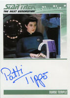 Star Trek Tng Portfolio Prints S1 Autograph Card Patti Tippo As Nurse Temple